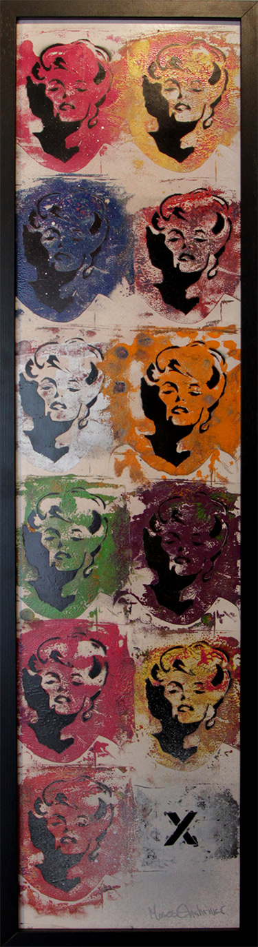 Popart-painting-marylin-monroe-by-the-artist-Moses-Shahrivar-Sthlm-art