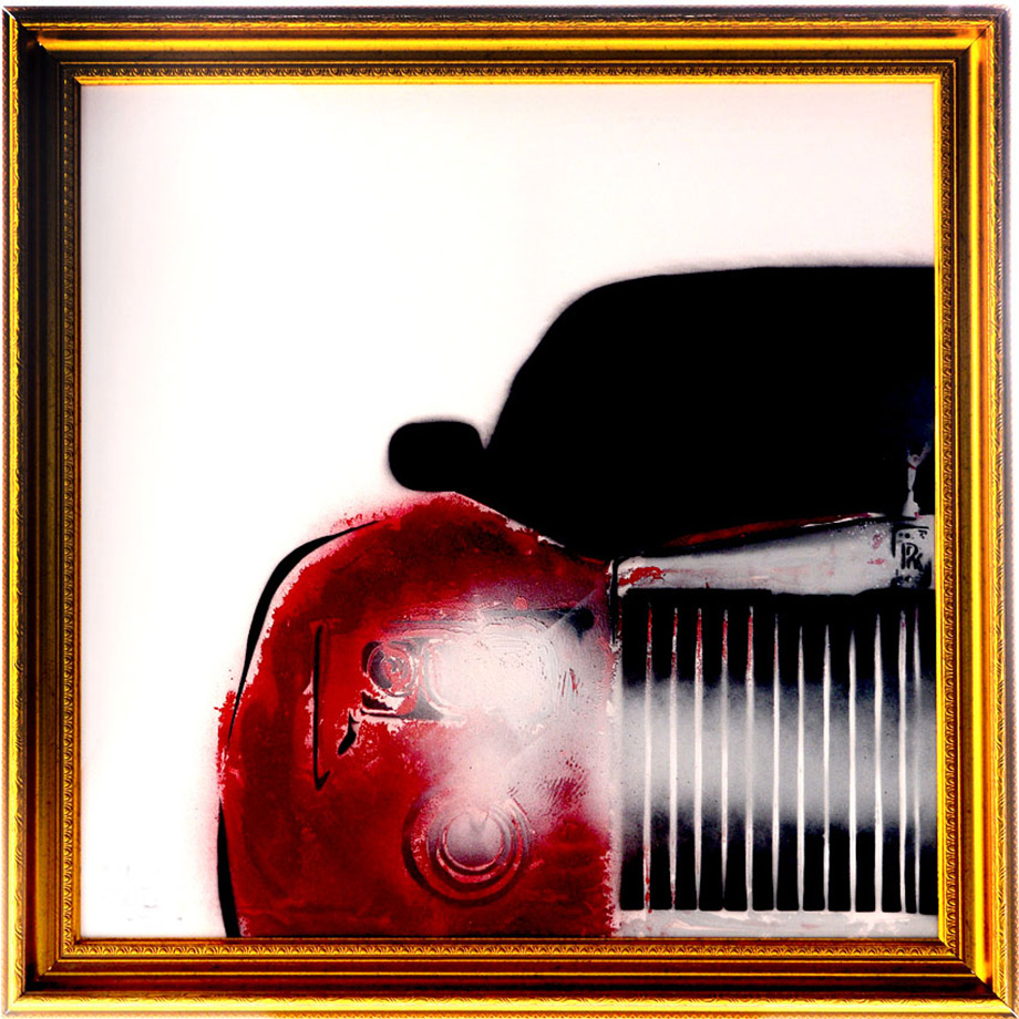 Popart-painting-rolls-royce1-by-the-artist-Moses-Shahrivar-Sthlm-art